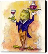 Wine Steward Toady Canvas Print by Peggy Wilson
