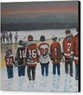 Winter Classic 2012 Canvas Print by Ron  Genest