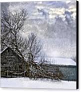 Winter Farm Canvas Print by Steve Harrington