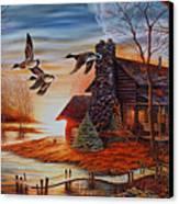 Winter Getaway Canvas Print by Carmen Del Valle