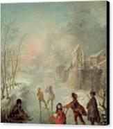 Winter Canvas Print by Jacques de Lajoue