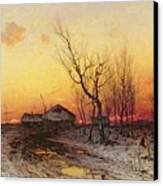 Winter Landscape Canvas Print by Julius Sergius Klever