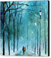 Winter Canvas Print by Leonid Afremov
