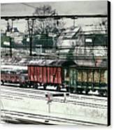 Winter Transport Canvas Print by Wim Lanclus