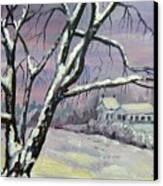 Winter Tree Canvas Print by Saga Sabin