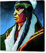 Winter Warrior Canvas Print by Lance Headlee