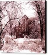 Winter Wonderland Pink Canvas Print by Julie Hamilton