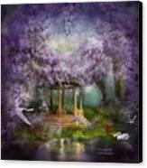 Wisteria Lake Canvas Print by Carol Cavalaris