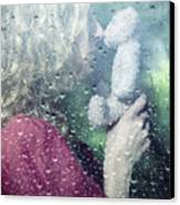 Woman And Teddy Canvas Print by Joana Kruse