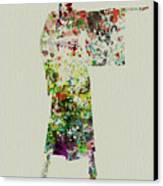 Woman In Kimono Canvas Print by Naxart Studio