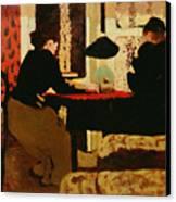 Women By Lamplight Canvas Print by vVuillard