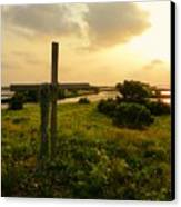 Wooden Cross 2 Canvas Print by Sheri McLeroy