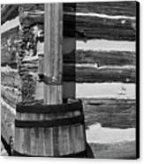 Wooden Water Barrel Canvas Print by Douglas Barnett