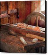 Woodworker - The Table Saw Canvas Print by Mike Savad