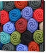 Wool Yarn Skeins Canvas Print by Jim Hughes
