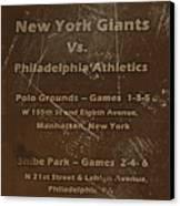 World Series 1913 Canvas Print by David Dehner