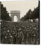 World War II. The Liberation Of Paris Canvas Print by Everett