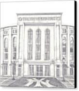 Yankee Stadium Canvas Print by Juliana Dube