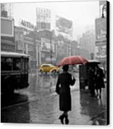 Yellow Cabs New York 2 Canvas Print by Andrew Fare