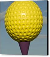 Yellow Golf Ball Canvas Print by Carl Purcell