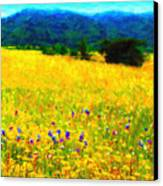 Yellow Hills Canvas Print by Wingsdomain Art and Photography