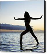 Yoga On The Coastline Canvas Print by Brandon Tabiolo - Printscapes