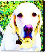 You Are My World - Yellow Lab Art Canvas Print by Sharon Cummings