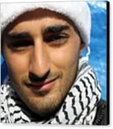 Young Palestinian Man Canvas Print by Munir Alawi