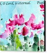 Your Word O Lord Canvas Print by Anne Duke