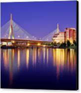Zakim Twilight Canvas Print by Rick Berk