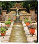 Zen Water Feature Waterfall Canvas Print by Sarah Broadmeadow-Thomas