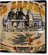 Zeppelin Express Work B Canvas Print by David Lee Thompson