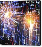 Zig Zag Blast Canvas Print by Debra     Vatalaro