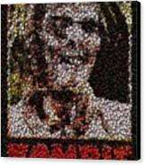 Zombie Bottle Cap Mosaic Canvas Print by Paul Van Scott