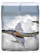 A4 - Skyhawks Duvet Cover by Pat Speirs