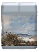 Birds Of A Feather Duvet Cover by  Charles Henry Clifford  Baldwyn