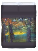 Blazing Autumn Light Duvet Cover by Sandra McClure
