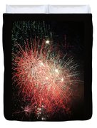 Fireworks Duvet Cover by Alan Hutchins