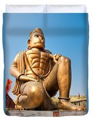 Great Bronze Hanuman - India Duvet Cover by Luciano Mortula