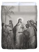 Jesus And His Disciples In The Corn Field Duvet Cover by Gustave Dore