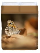 Lattice Brown Kirinia Roxelana Duvet Cover by Alon Meir