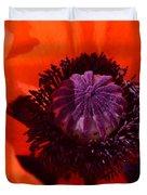 Orange Poppy Duvet Cover by Kathleen Struckle