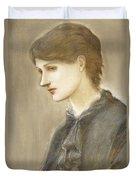 Portrait Of Mrs William J Stillman Nee Marie Spartali Duvet Cover by Sir Edward Coley Burne Jones