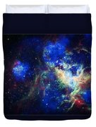 Tarantula Nebula 3 Duvet Cover by Jennifer Rondinelli Reilly - Fine Art Photography