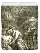 The Good Samaritan  Duvet Cover by English School