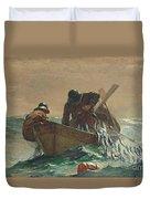 The Herring Net Duvet Cover by Winslow Homer