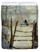The Magpie Duvet Cover by Claude Monet