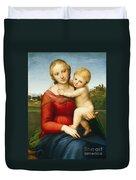 The Small Cowper Madonna Duvet Cover by Raphael Raffaello Sanzio of Urbino