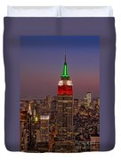 Top Of The Rock Duvet Cover by Susan Candelario