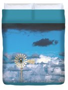 Water Windmill Duvet Cover by Stelios Kleanthous